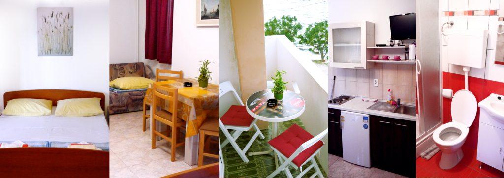 Pokój wypoczynkowy z internetem, zapleczem kuchennym i łazienką w Chorwacji