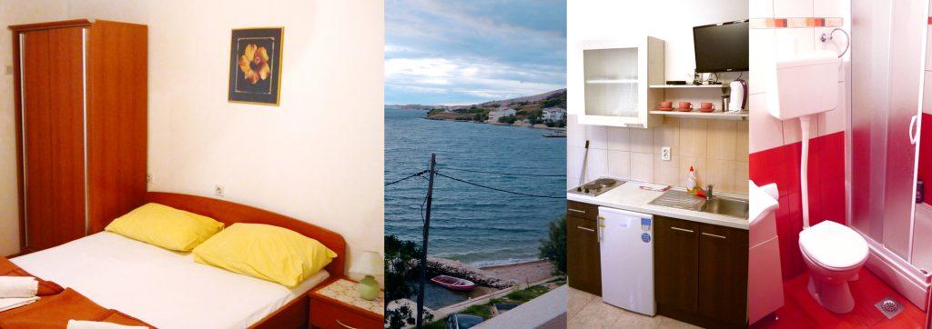 Apartament z sypialnią i pokojem dziennym, wyposażony w aneks kuchenny i łazienkę