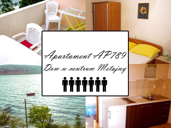 Apartament AP789. Centrum Metajny, wyspa Pag