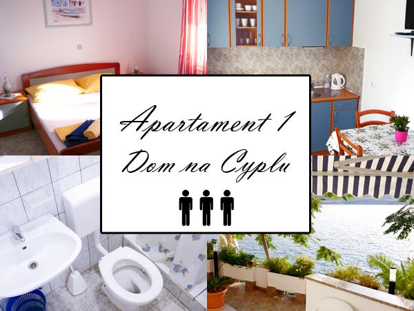 Apartament 1 A2+1. Dom na cyplu, wyspa Pag.