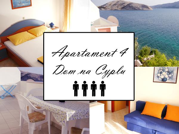 Apartament 4 A4. Dom na cyplu, wyspa Pag.