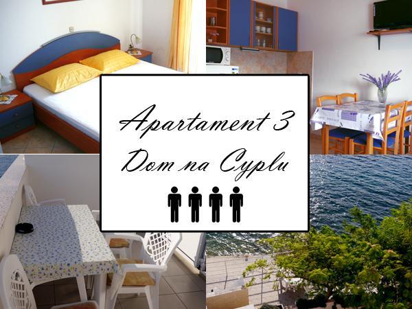 Apartament 3 A4. Dom na cyplu, wyspa Pag.