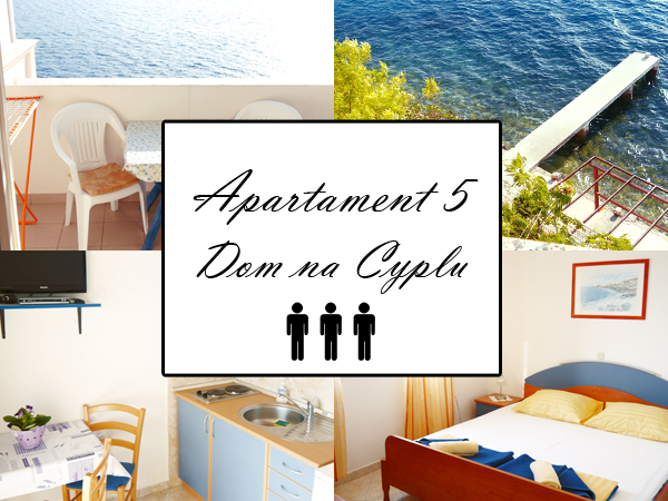Apartament 5 AS 2+1. Dom na cyplu, wyspa Pag.